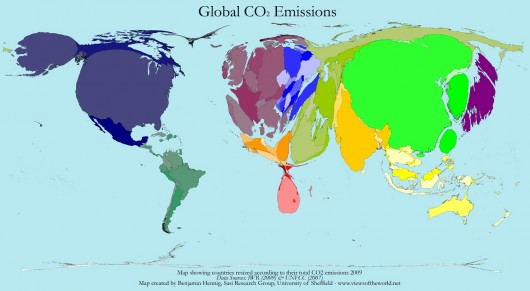 CO2 World Map